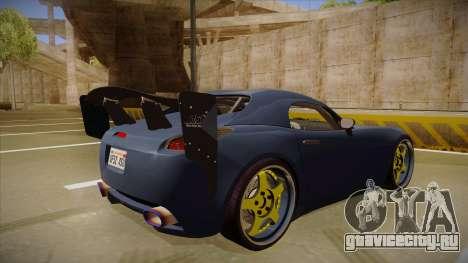 Pontiac Solstice Rhys Millen для GTA San Andreas вид справа