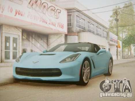 Chevrolet Corvette C7 Stingray 2014 для GTA San Andreas вид справа
