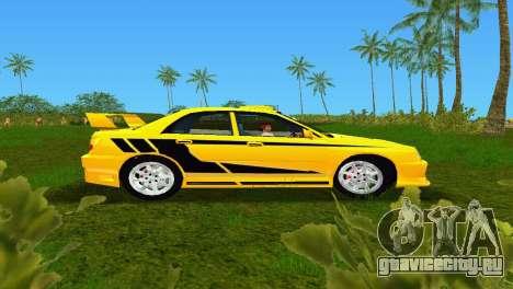 Subaru Impreza WRX v1.1 для GTA Vice City вид слева