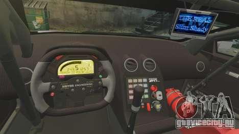 Lamborghini Murcielago RSV FIA GT1 v2.0 для GTA 4 вид изнутри
