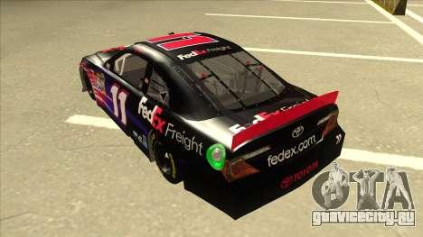 Toyota Camry NASCAR No. 11 FedEx Freight для GTA San Andreas вид сзади