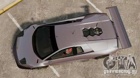 Lamborghini Murcielago RSV FIA GT1 v2.0 для GTA 4 вид справа