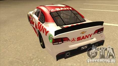 Chevrolet SS NASCAR No. 7 Sany для GTA San Andreas вид сзади
