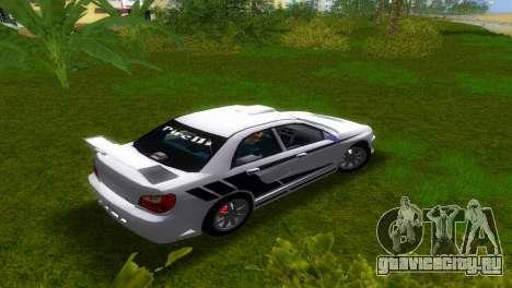 Subaru Impreza WRX v1.1 для GTA Vice City вид сзади слева