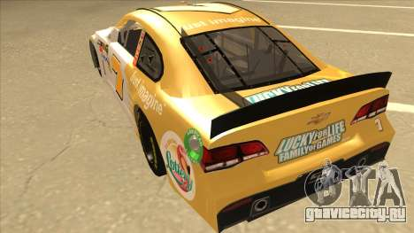 Chevrolet SS NASCAR No. 7 Florida Lottery для GTA San Andreas вид сзади