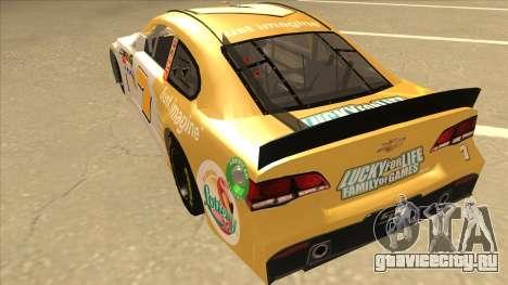 Chevrolet SS NASCAR No. 7 Florida Lottery для GTA San Andreas вид сзади