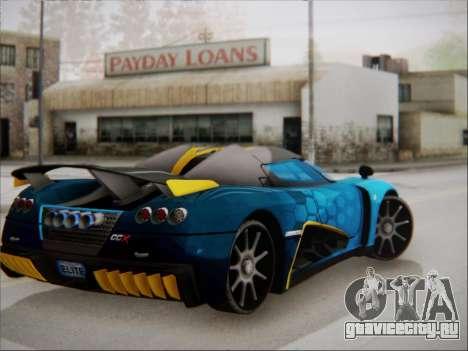 Koenigsegg CCX Elite для GTA San Andreas вид слева