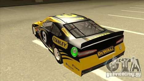 Ford Fusion NASCAR No. 9 Stanley DeWalt для GTA San Andreas вид сзади