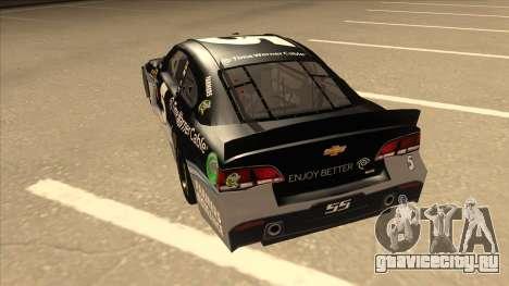 Chevrolet SS NASCAR No. 5 Time Warner Cable для GTA San Andreas вид сзади