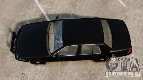 Ford Crown Victoria 2008 FBI для GTA 4 вид справа