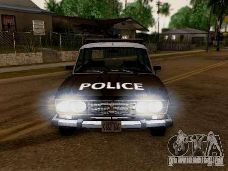 ВАЗ 2106 Полиция Лос Сантос для GTA San Andreas вид сзади