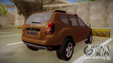 Dacia Duster Elite для GTA San Andreas вид справа