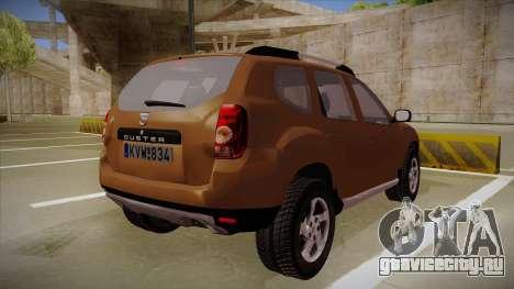 Dacia Duster Elite для GTA San Andreas вид справа