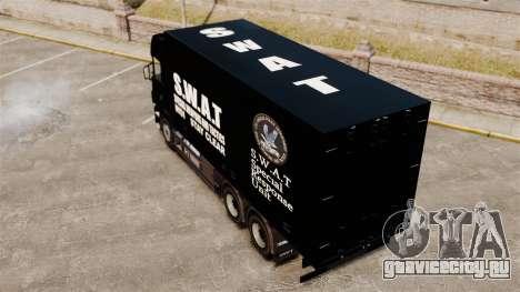 Новый грузовик SWAT для GTA 4 вид сзади слева