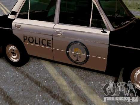 ВАЗ 2106 Полиция Лос Сантос для GTA San Andreas вид снизу