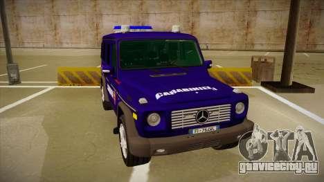 Mercedes Benz G8 Carabinieri для GTA San Andreas вид слева