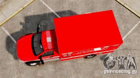 Dodge Ram 3500 2011 LAFD Ambulance [ELS] для GTA 4 вид справа
