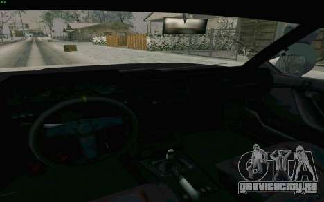 Blista Compact Type R для GTA San Andreas вид изнутри