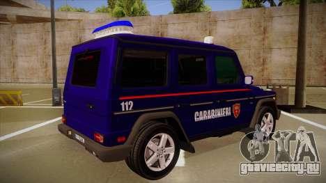 Mercedes Benz G8 Carabinieri для GTA San Andreas вид справа