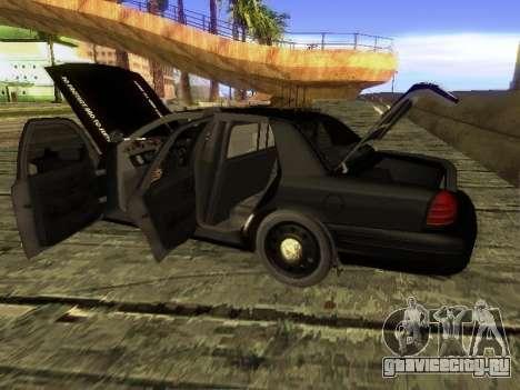 Ford Crown Victoria Police Interceptor для GTA San Andreas вид сзади слева