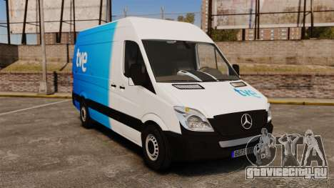 Mercedes-Benz Sprinter Spanish Television Van для GTA 4