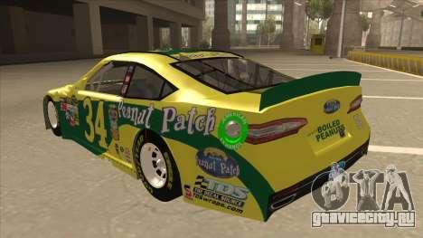 Ford Fusion NASCAR No. 34 Peanut Patch для GTA San Andreas вид сзади