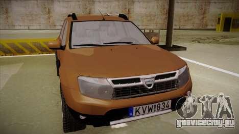 Dacia Duster Elite для GTA San Andreas вид слева