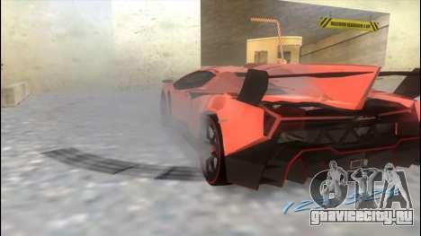 Lamborghini Veneno для GTA Vice City вид сзади слева