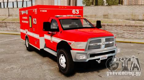 Dodge Ram 3500 2011 LAFD Ambulance [ELS] для GTA 4