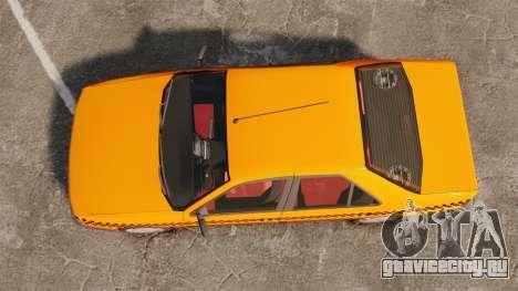 Peugeot 405 GLX Taxi для GTA 4 вид справа