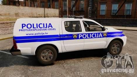 Toyota Hilux Croatian Police v2.0 [ELS] для GTA 4 вид слева