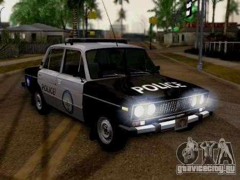 ВАЗ 2106 Полиция Лос Сантос для GTA San Andreas вид справа