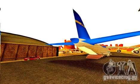 Andromada GTA V для GTA San Andreas вид изнутри
