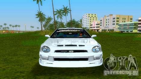 Subaru Impreza WRX v1.1 для GTA Vice City вид изнутри