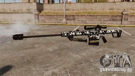 Снайперская винтовка Barrett M82 v16 для GTA 4 третий скриншот