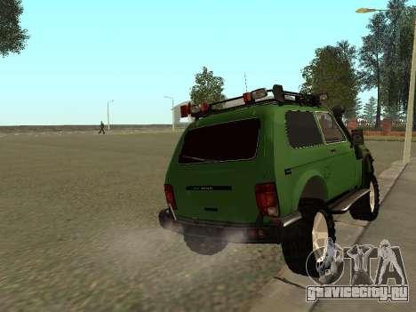 ВАЗ 21213 нива 4x4 Off Road для GTA San Andreas вид сзади слева