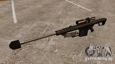 Снайперская винтовка Barrett M82 v2 для GTA 4 третий скриншот