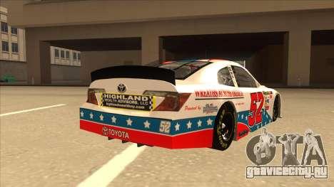 Toyota Camry NASCAR No. 52 TruckerFan для GTA San Andreas вид справа