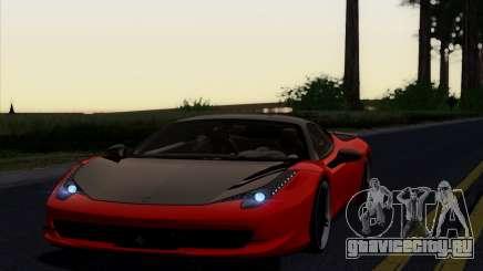 Ferrari 458 Italia Novitec Rosso Carbon для GTA San Andreas