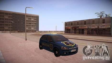 Opel Corsa C 2005 Sarajevo Taxi для GTA San Andreas вид сзади слева