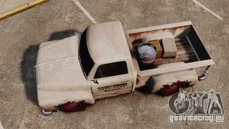 Ржавый старый грузовик для GTA 4 вид справа
