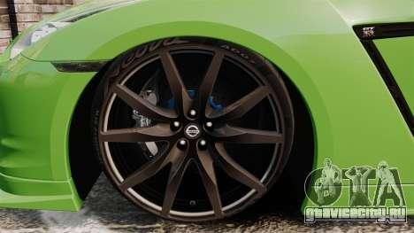 Nissan GT-R SpecV 2010 для GTA 4 вид сзади