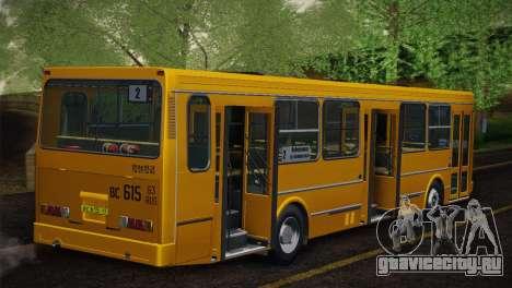 ЛиАЗ 5256.00 Скин-пак 5 для GTA San Andreas вид снизу