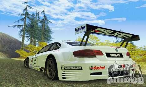 BMW M3 GT2 E92 ALMS для GTA San Andreas вид сзади слева