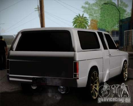 Isuzu KB для GTA San Andreas вид сзади слева
