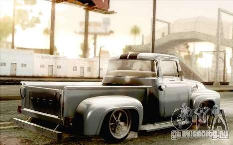 Ford F100 1956 для GTA San Andreas вид слева