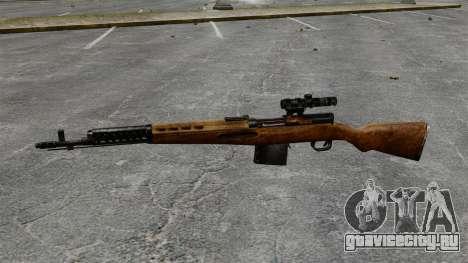 Самозарядная винтовка Токарева 1940г для GTA 4 третий скриншот