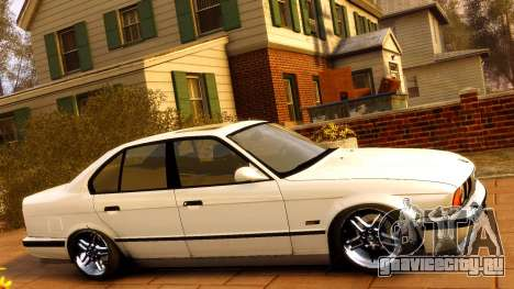 BMW M5 E34 1995 для GTA 4 вид сбоку