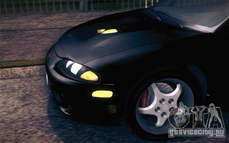 Mitsubishi Eclipse Fast and Furious для GTA San Andreas вид изнутри