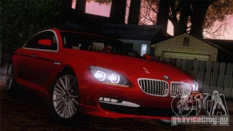 BMW 6 Gran Coupe v1.0 для GTA San Andreas вид изнутри